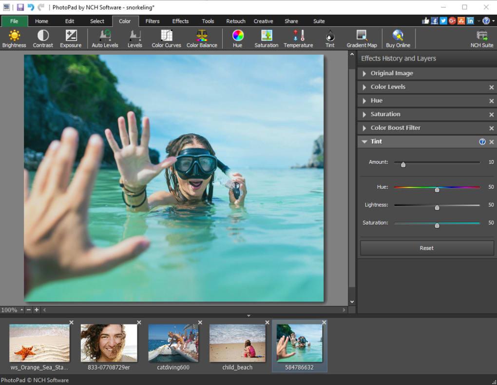 NCH PhotoPad Image Editor Pro 7.40 Crack